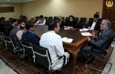 دیدار رییس اجراییه با نمایندهگان بنیاد فیفا