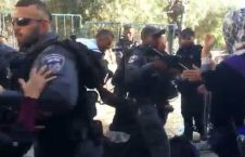 Zionist attack women Palestinian prayers