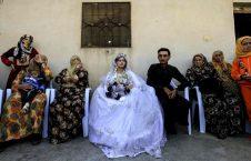 اولین مراسم ازدواج بعد از خروج داعش از شهر رقه (1)