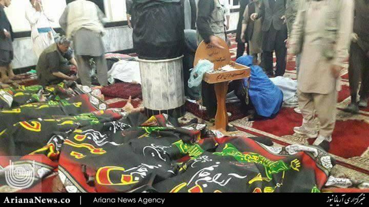 شهادت نمازگزاران مسجد امام زمان کابل   (1)