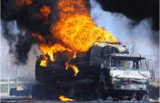 انفجار تانکر تیل