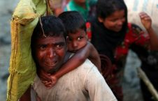 لحظات وحشتناک عبور مسلمانان روهینگیا از رودخانه (4)