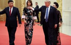 لباس چندهزار دالری ملانیا ترمپ در سفر به چین (15)