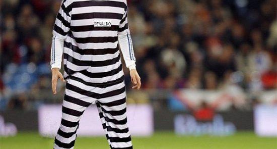 کریستیانو رونالدو 550x295 - مهاجم رئال مادرید، زندانی می شود!