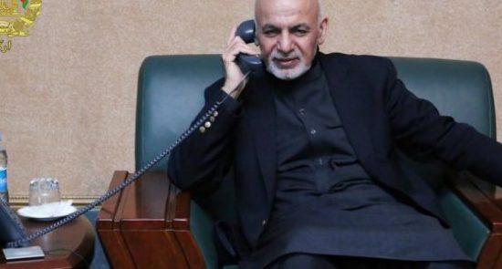 اشرف غنی 11 550x295 - گفتگوی تیلیفونی رییس جمهور غنی با صدراعظم آینده پاکستان