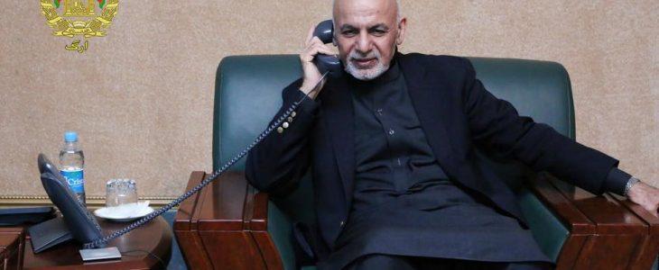 اشرف غنی 11 - گفتگوی تیلیفونی رییس جمهور غنی با صدراعظم آینده پاکستان