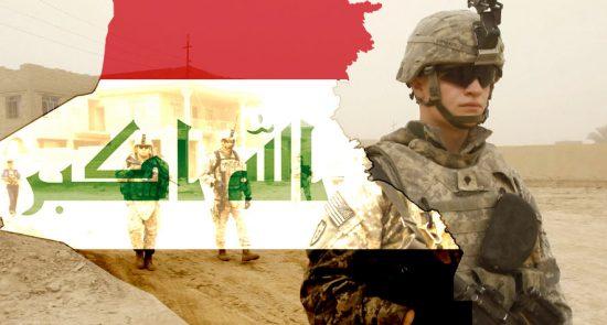 امریکا عراق 550x295 - انتقاد از سکوت دولت عراق در برابر تجاوزگران امریکایی