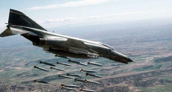 بمباردمان 550x295 - امریکا دوشادوش داعش؛ کشتار بیرحمانه زنان و اطفال