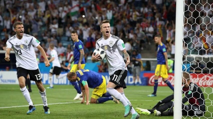 سویدن - شبی سخت برای مدافع عنوان قهرمانی؛ جرمنی به سختی سویدن را شکست داد