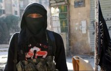 زن انتحاری 226x145 - زن مشهور داعشی دستگیر شد + عکس