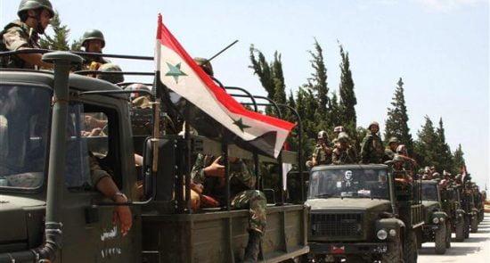 سوریه 550x295 - وقوع یک درگیری میان اردوی سوریه با نظامیان امریکا در شرق حمص