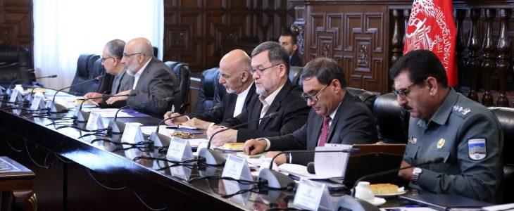 شورای امنیت ملی 1 - بررسی وضعیت عمومی امنیتی ولایات مختلف کشور در جلسۀ شورای امنیت ملی