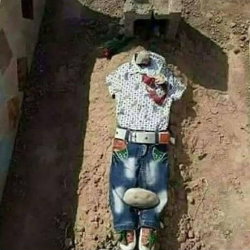 یمنی - تصویری دردناک از تحفه یک مادر یمنی برای فرزندش