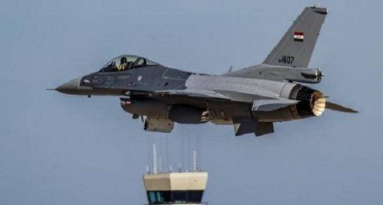 طیاره عراقی 550x295 - حمله طیارات جنگی عراقی بالای مواضع داعش در سوریه