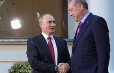 پوتین اردوغان 226x145 - پیام تبریک پوتین به اردوغان