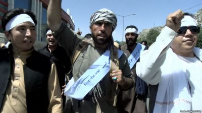 کاروان صلح هلمند - تحصن سه روزه اعضای کاروان صلح هلمند مقابل دفتر سازمان ملل متحد