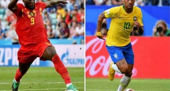 برازیل بلجیم 550x295 - حذف یاران نیمار از جام جهانی؛ بلجیم به نیمه نهایی رفت
