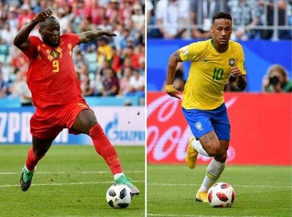 بلجیم - حذف یاران نیمار از جام جهانی؛ بلجیم به نیمه نهایی رفت