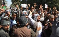 تظاهرات 226x145 - هواداران دوستم در سمنگان آشوب به پا کردند
