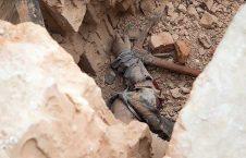جسد 226x145 - تلاش باشنده گان کندز برای بیرون کشیدن اجساد از زیر آوارها