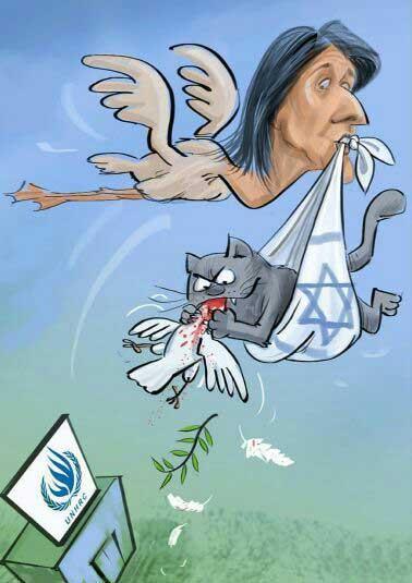 بشر 1 1 - کاریکاتور/ به خاطر اسراییل!