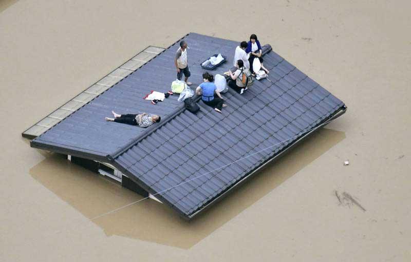 جاپان 1 - تصاویر/ بارشهای سیل آسا در جاپان