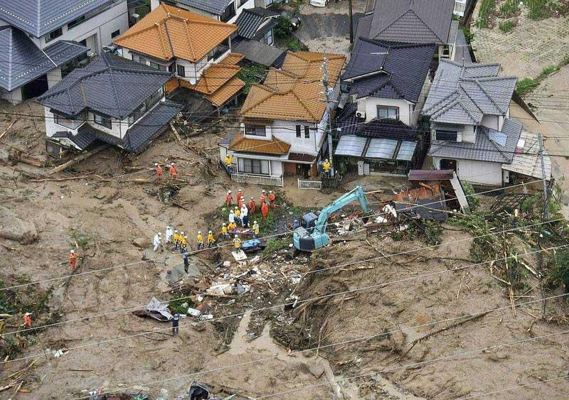 جاپان 4 - تصاویر/ بارشهای سیل آسا در جاپان
