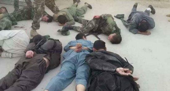 شکنجه محافظان قیصاری 550x295 - واکنش رییس جمهور غنی به ویدیوی شکنجه شدن محافظان قیصاری