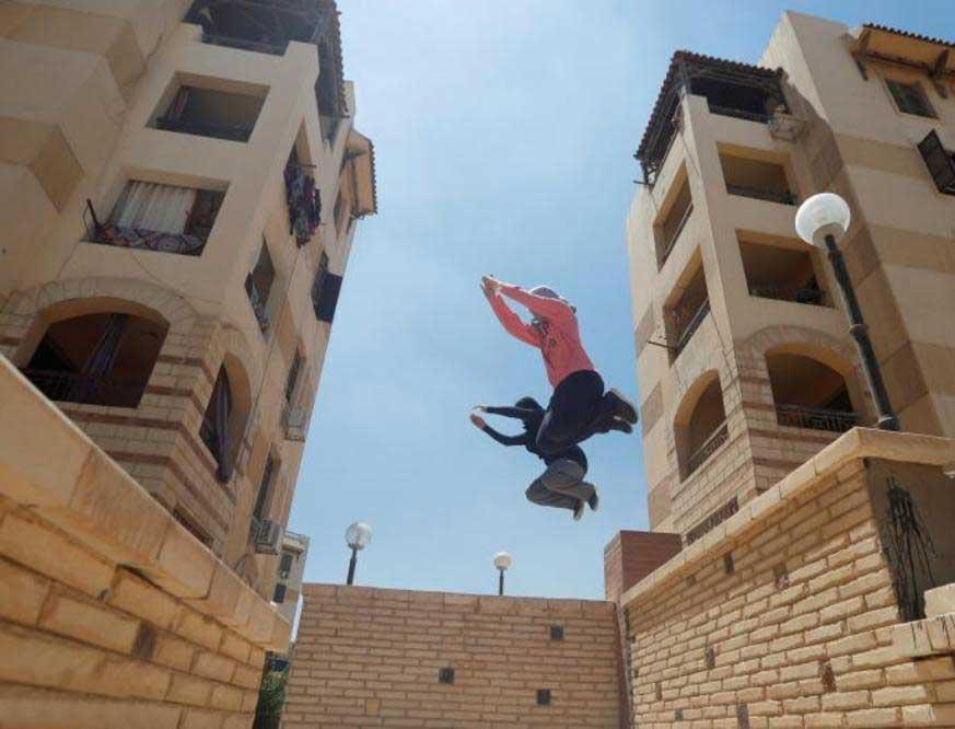 پارکور 2 - پارکور زنان مسلمان در سرکهای مصر + تصاویر
