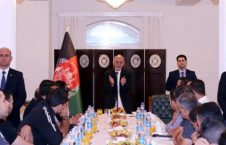 اشرف غنی 1 226x145 - دیدار رییس جمهور غنی با اعضای تیم های فوتبال افغانستان و فلسطین