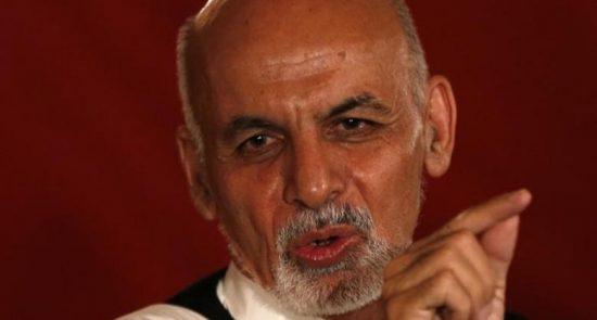 اشرف غنی 550x295 - شرط رییس جمهور غنی برای واگذاری قدرت به طالبان