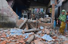 اندونزیا زلزله 226x145 - زلزله اندونزیا، جان 100 نفر را گرفت!