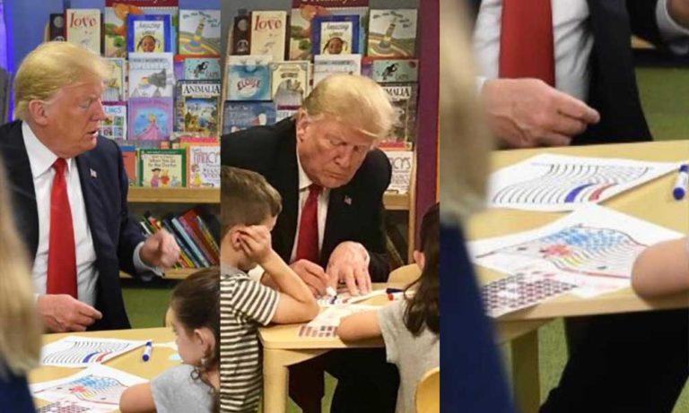 ترمپ 3 - تصویر/ رییس جمهوری که رنگ بیرق کشورش را نمیداند!