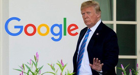 ترمپ 4 550x295 - ترمپ از گوگل انتقاد کرد!