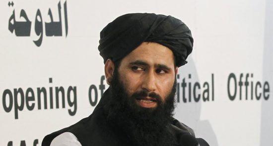 ذبيح الله مجاهد 550x295 - ذبیح الله مجاهد خواستار آزادی اعدامی طالبان شد