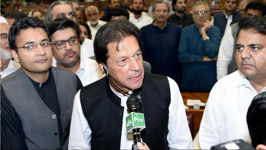 عمران خان 1 - مراسم تحلیف صدراعظم جدید پاکستان برگزار شد