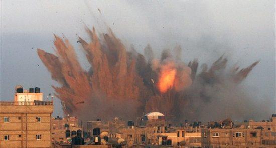 غزه 550x295 - حمله هوایی طیارات جنگی اسراییل به شمال غزه