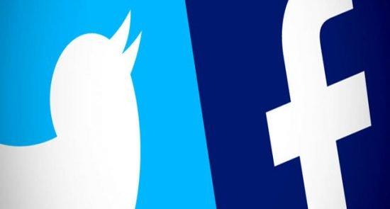 فیسبوک و توییتر 550x295 - فیسبوک و تویتر صدها صفحه و حساب کاربران مرتبط با ایران را بستند