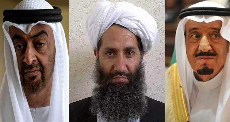 الله ملک سلمان بن زاید - هشدار شدید الحن رهبر طالبان به عربستان و امارات