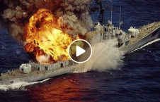 ویدیو آتش یک کشتی آبهای یونان 226x145 - ویدیو/ آتش سوزی در یک کشتی در آبهای یونان