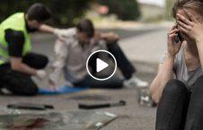برخورد ناگهانی یک موتر با زن جوان 226x145 - ویدیو/ برخورد ناگهانی یک موتر با زن جوان
