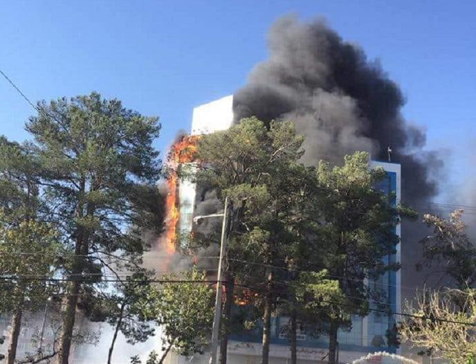 کابل بانک هرات 4 - تصاویر/ آتش در کابل بانک هرات