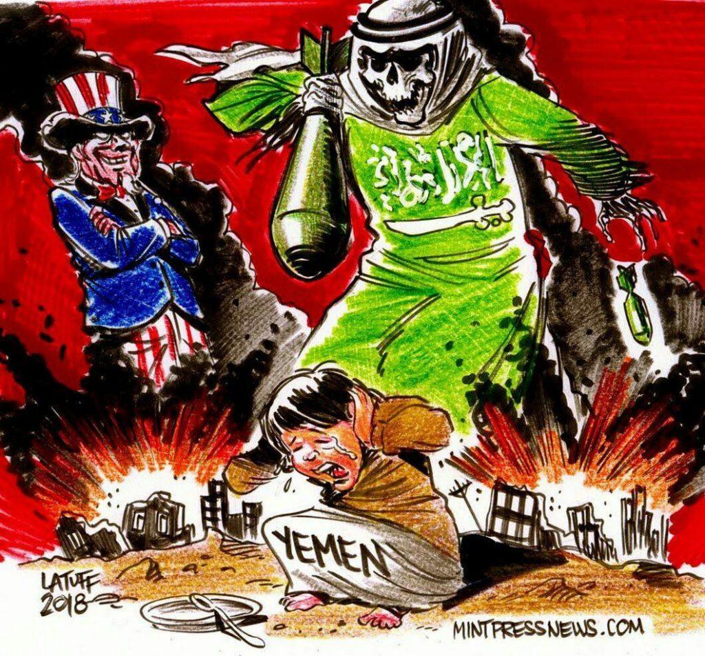 کاریکاتور یمن 1024x953 - کاریکاتور/ اربابان تاریکی!