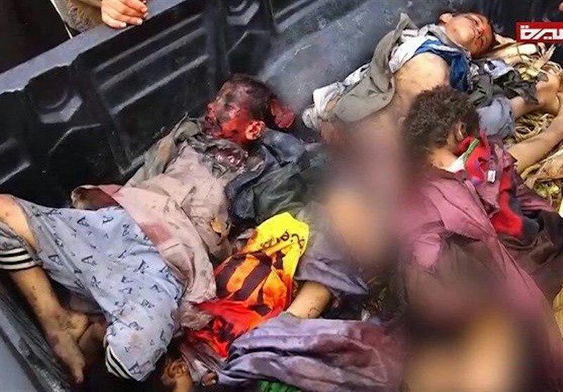 یمن 1 1 - جنایت هولناک متجاوزان سعودی در صعده/ حمله به بس حامل متعلمان