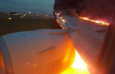 آتش 226x145 - تصویر/ حریق یک طیاره روسی هنگام فرود