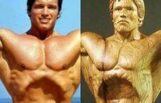 آرنولد شوارتزنگر 226x145 - تصاویر/ رونمایی از مجسمه چوبی بی نظیر آرنولد شوارتزنگر!