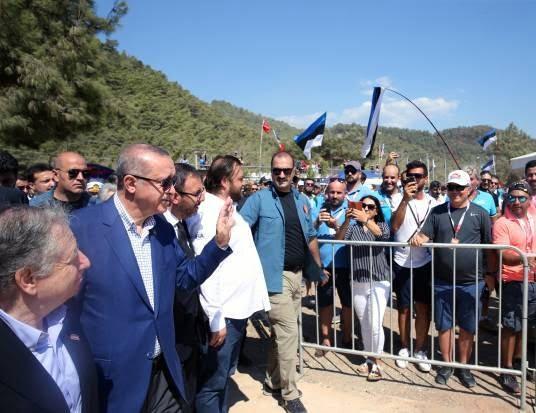 اردوغان - تصاویر/ رییس جمهور ترکیه در مسابقات رالی