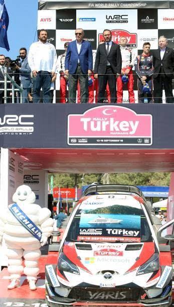 اردوغان4 - تصاویر/ رییس جمهور ترکیه در مسابقات رالی