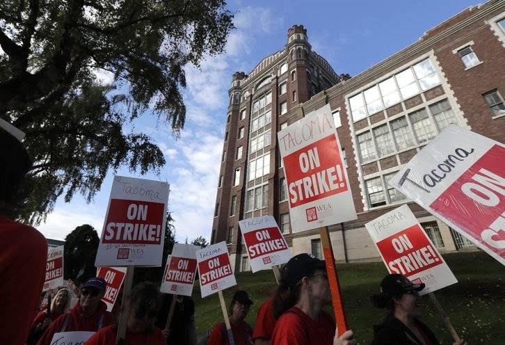 اعتصاب معلمان 2 - تصاویر/ اعتصاب معلمان در واشینگتن