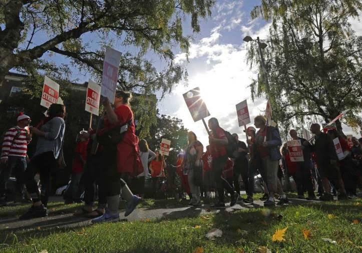 اعتصاب معلمان 3 - تصاویر/ اعتصاب معلمان در واشینگتن